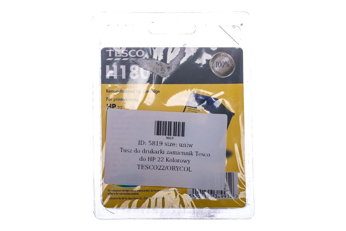 Remanufactured Ink cartridge Tesco HP 22 Colour