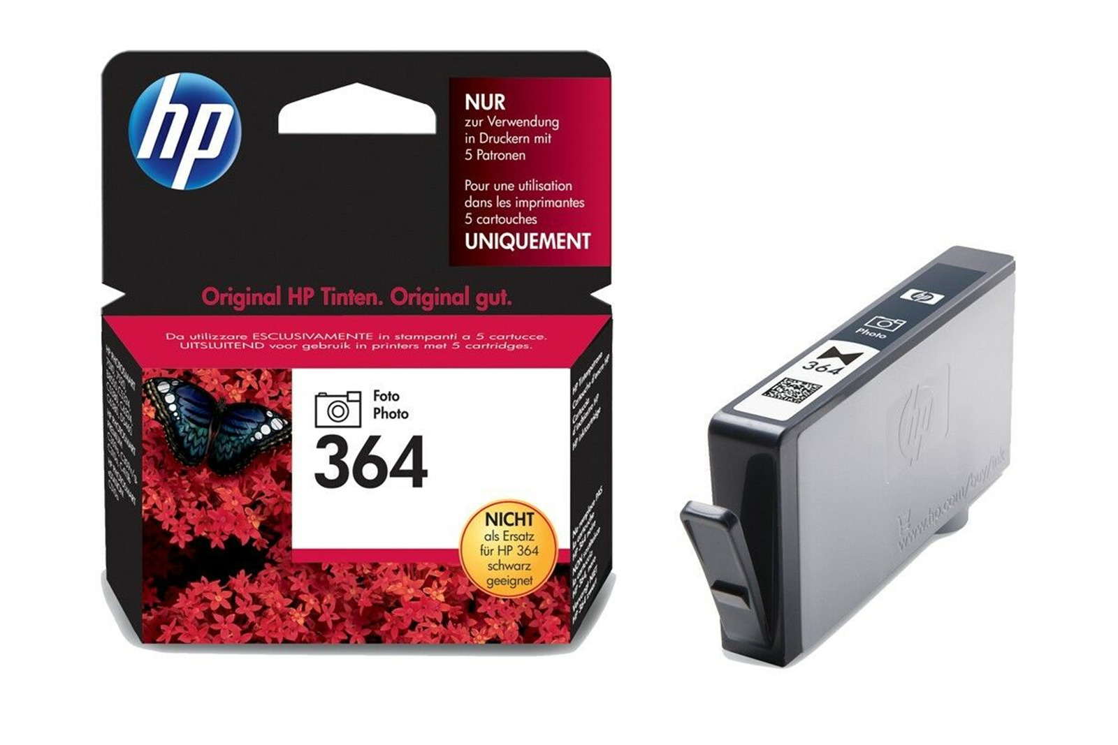 Genuine Ink Cartridge HP Photo 364 CB317EE Black