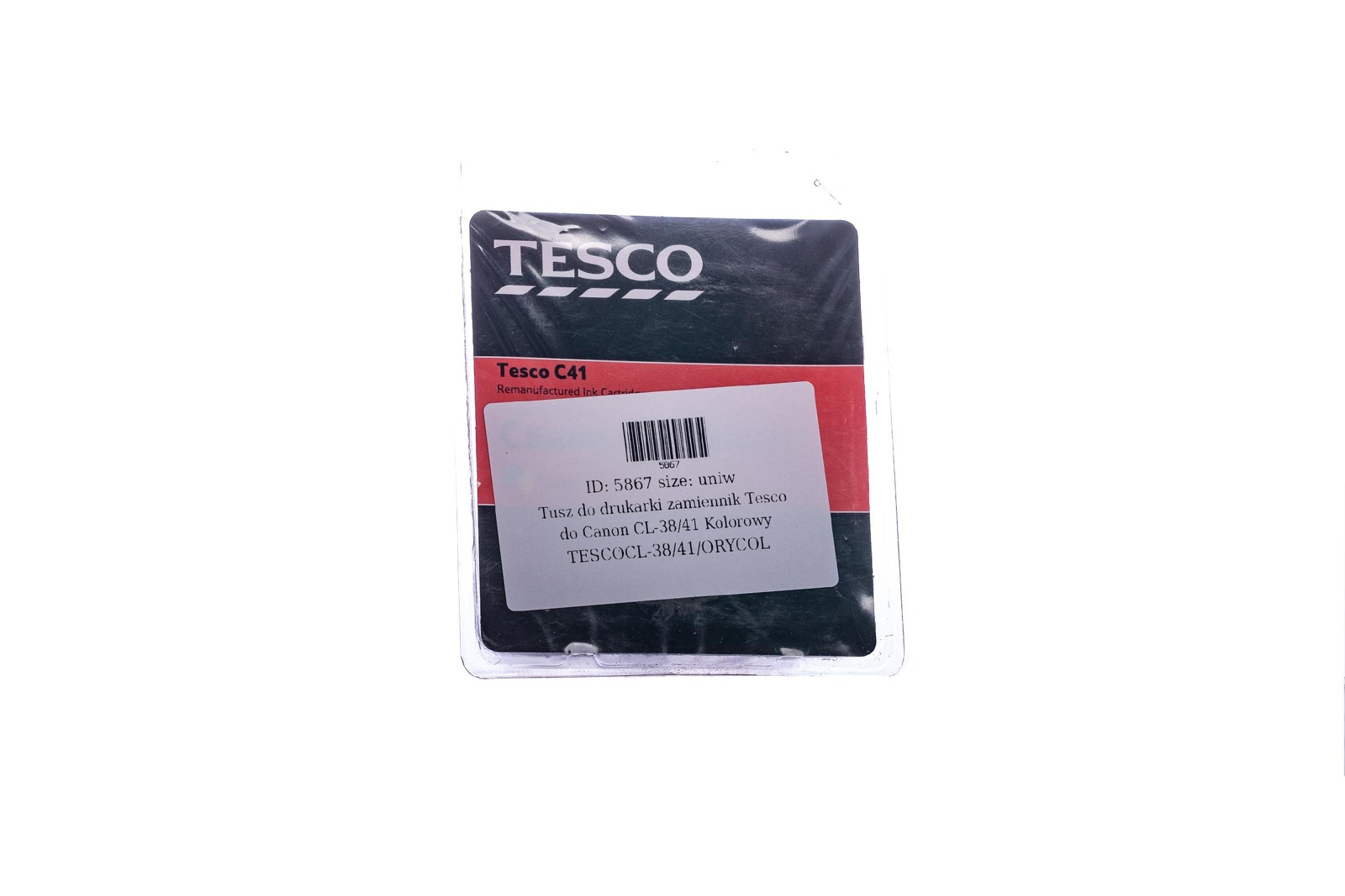 Remanufactured Ink cartridge Tesco Canon CL-38/41 Colour