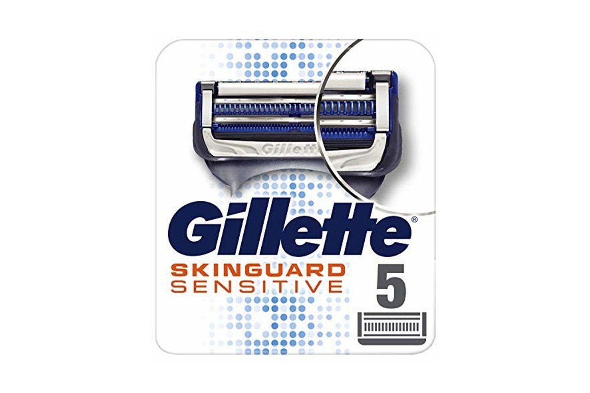 5x Original Ersatzklingen Gillette Skinguard Sensitive