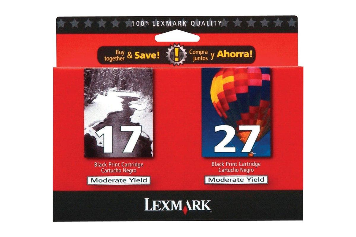 Echte Tintenpatrone Lexmark 17 + 27 80D2951BL Schwarz / Farbe