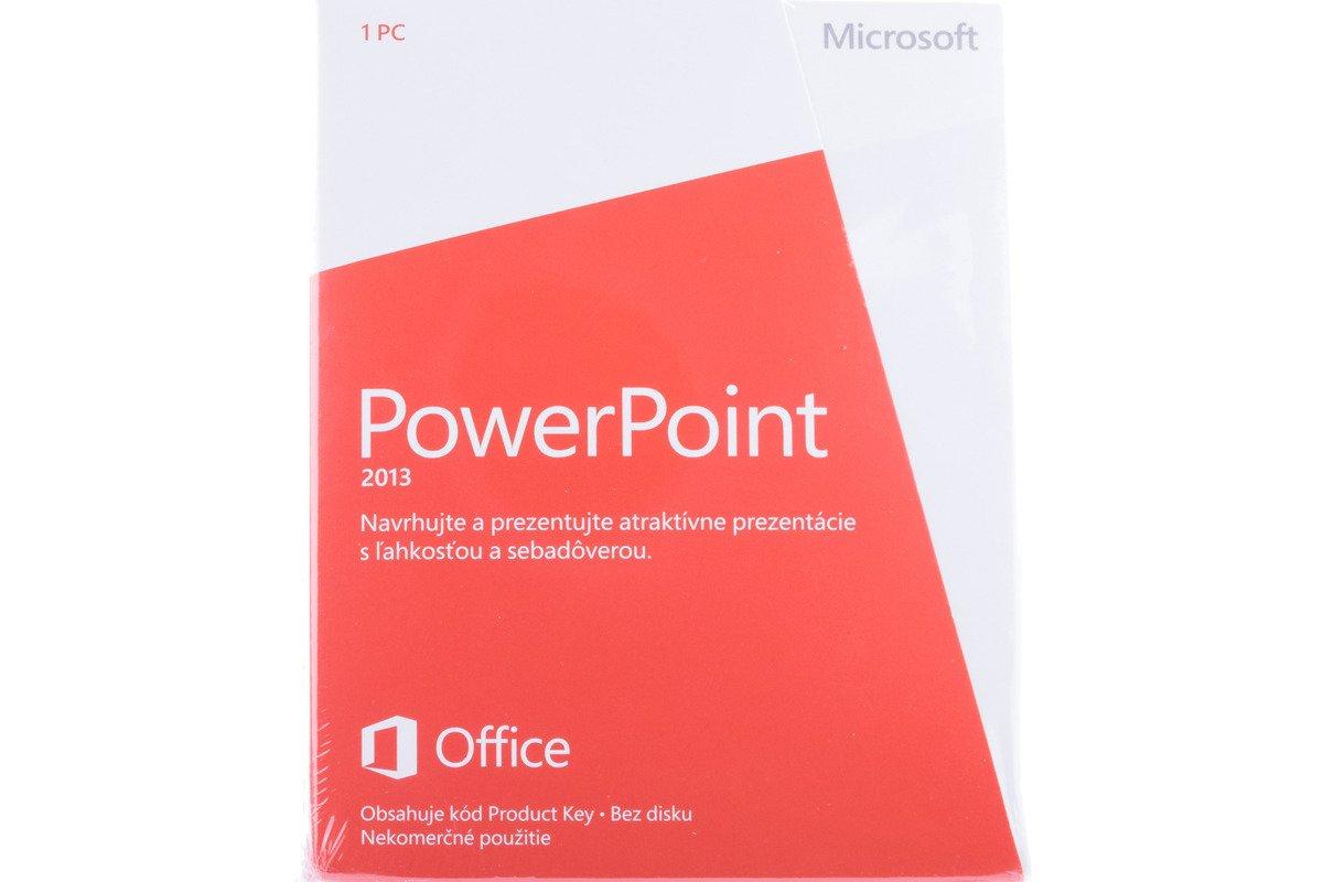 Neu OVP Microsoft Powerpoint 2013 079-05959 Slovak Medialess NonCommercial