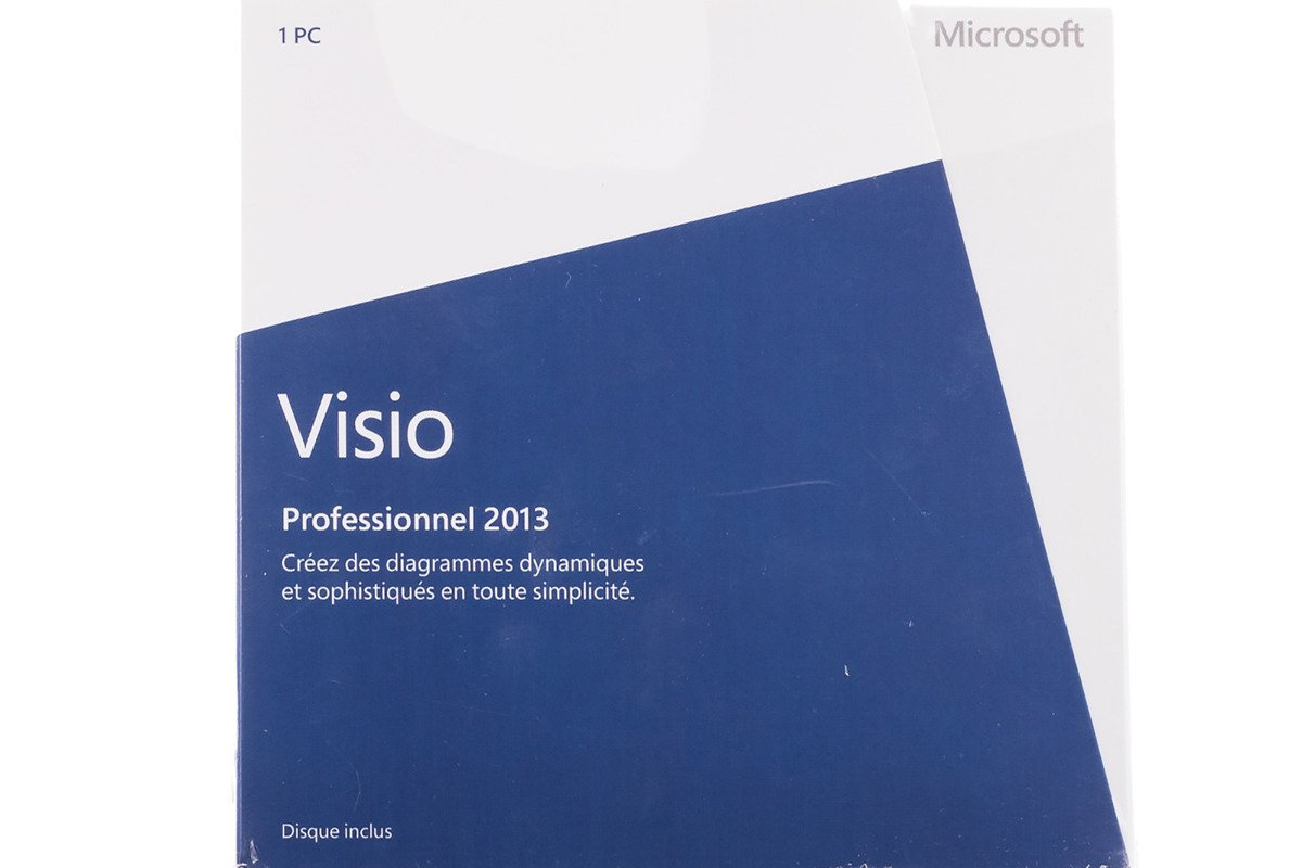 New Genuine Microsoft Visio Professional 2013 D87-05369 Medialess Afrika / Latam BOX