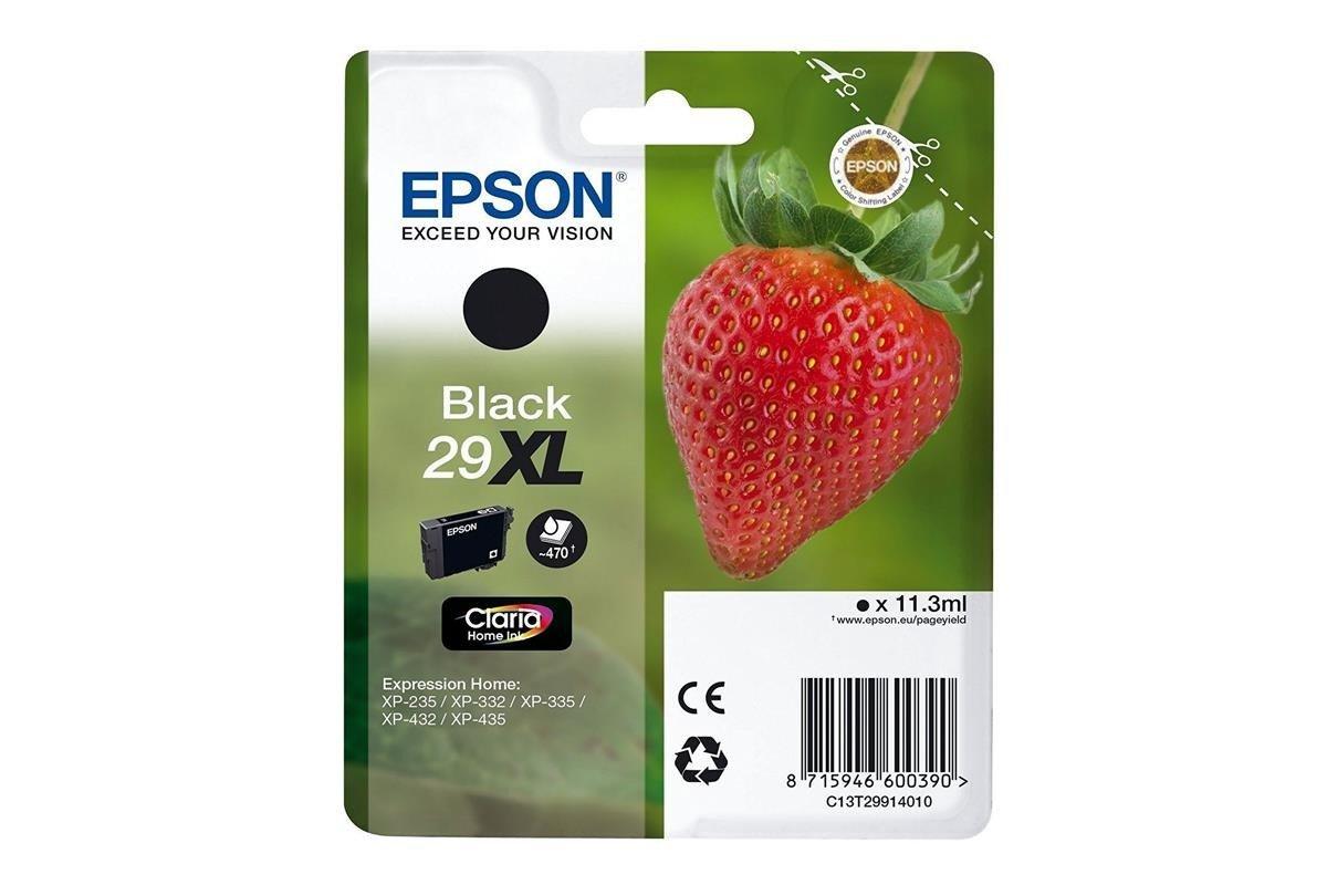 Original Tintenpatronen Epson 29XL T2991 C13T29914012 Schwarz