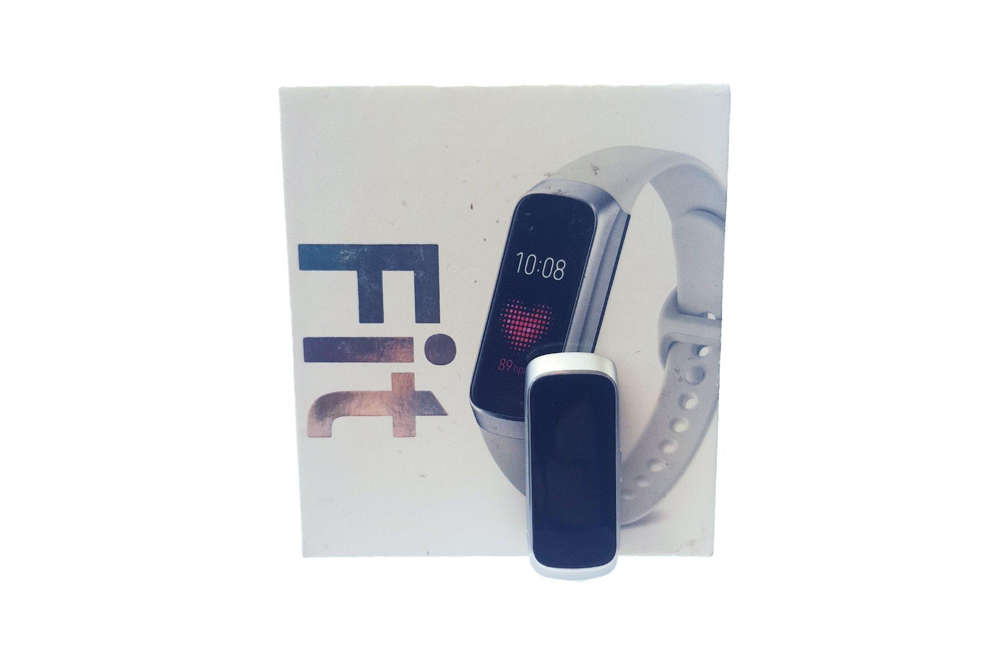 Samsung Galaxy Fit SM-R370 Smart Fitnessuhr Smartwatch Silver Damaged