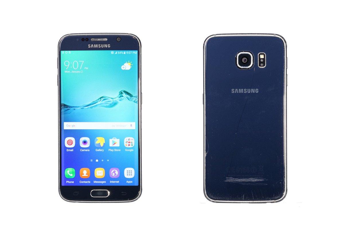 Samsung Galaxy S6 Black Sapphire 32GB SM-G920 Grade C Ersatzbox