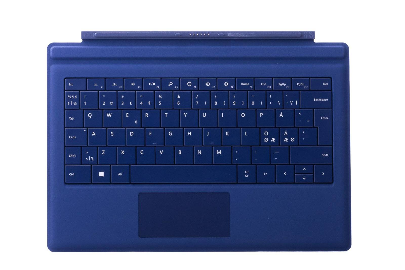 Tastatur Microsoft Surface Type Cover Pro 3 Dunkelblau QWERTY Nordisch Grade A