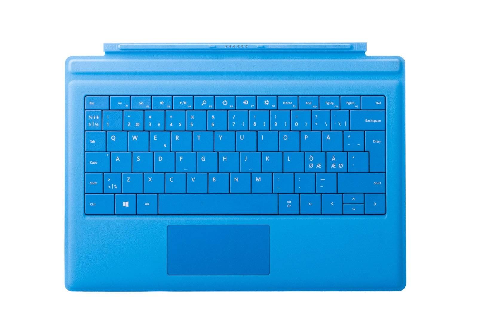 Tastatur Microsoft Surface Type Cover Pro 3 Hellblau QWERTY Nordisch Grade A