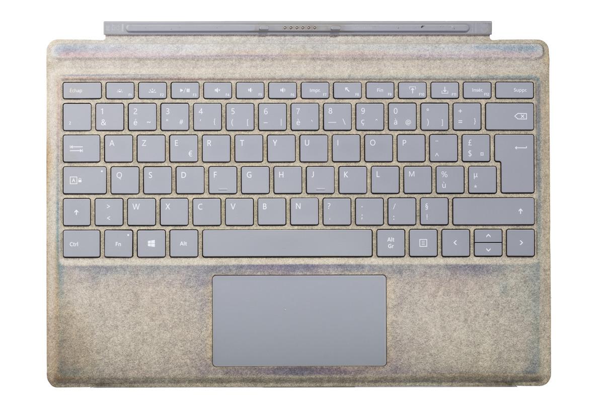 Tastatur Microsoft Surface Type Cover Pro 4 SE AZERTY Französisch Grade C