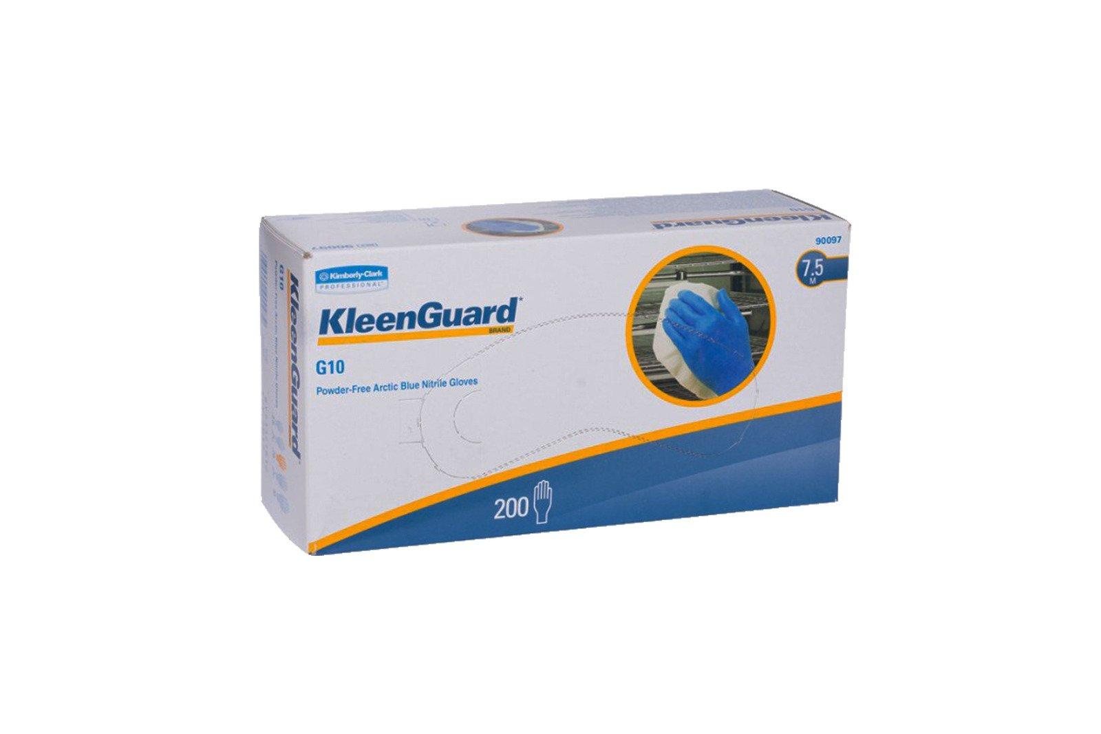KleenGuard G10 Puderfreie arktisblaue Nitrilhandschuhe 7.5 Größe M 200 Stck
