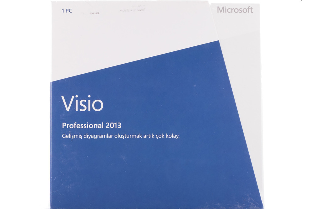 Neu OVP Microsoft Visio Professional 2013 D87-05431 Medialess Eurozone BOX