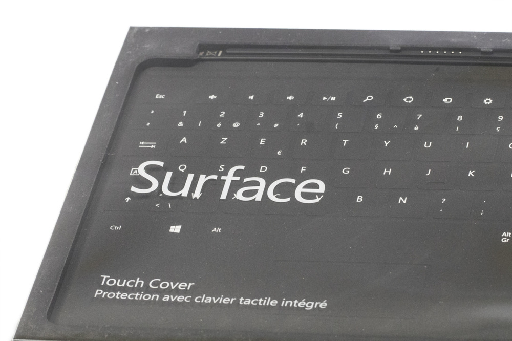 Tastatur Microsoft Surface Touch Cover 2 Schwarz AZERTY belgisches Grade A