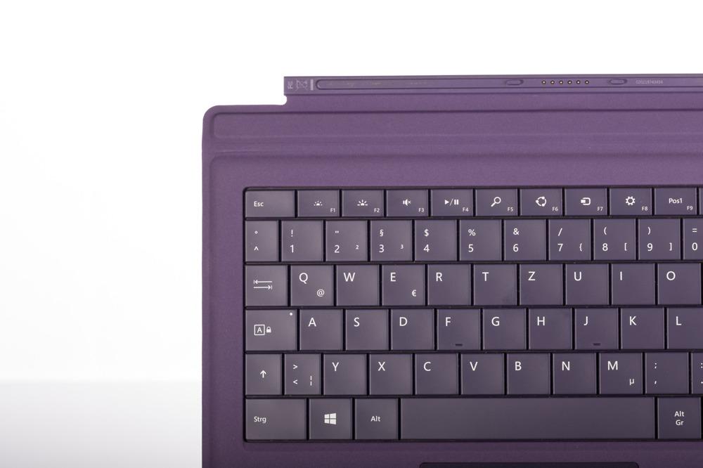 Tastatur Microsoft Surface Type Cover Pro 3 Lila QWERTZ Deutsche Grade B