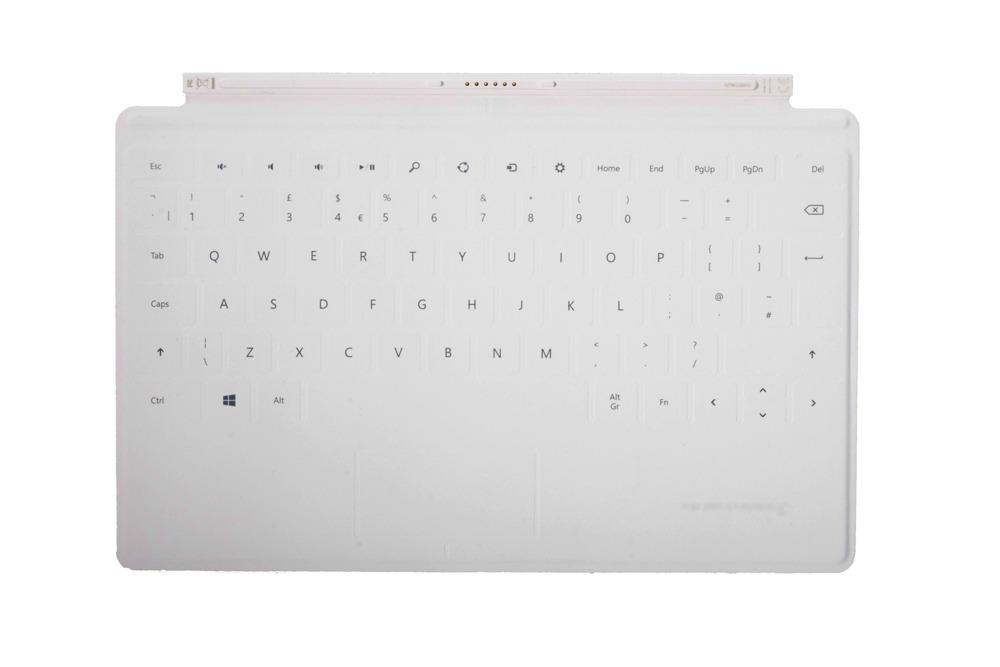Tastatur Surface Touch Cover 1 Weiß Grade A (britisch)